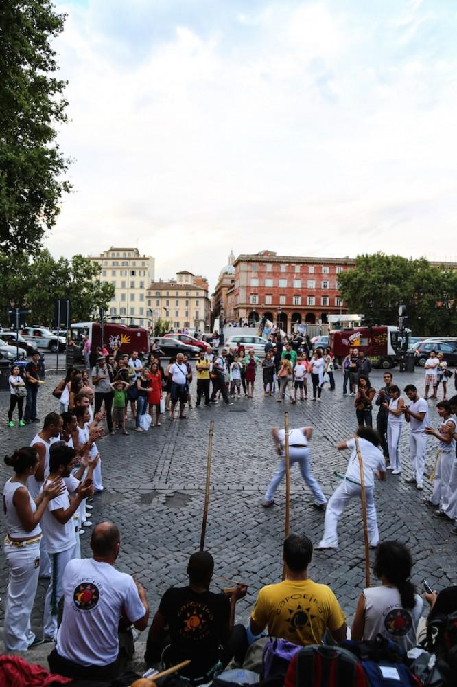Spontane Capoeira-Show