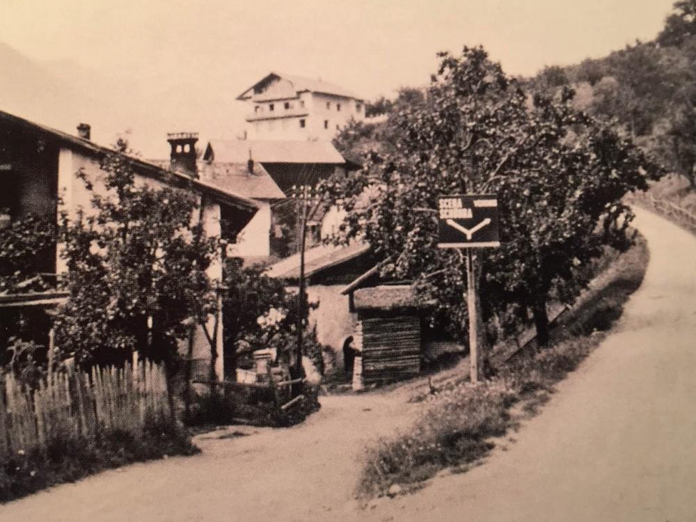 Straße nach Schenna 1957