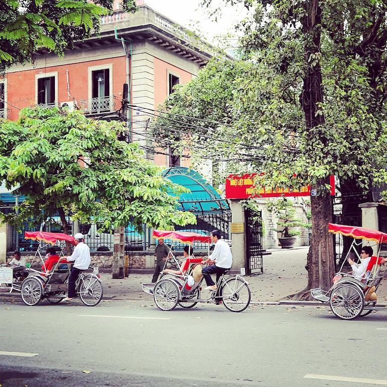 In Hanoi gibt es sie noch, die Cyclos