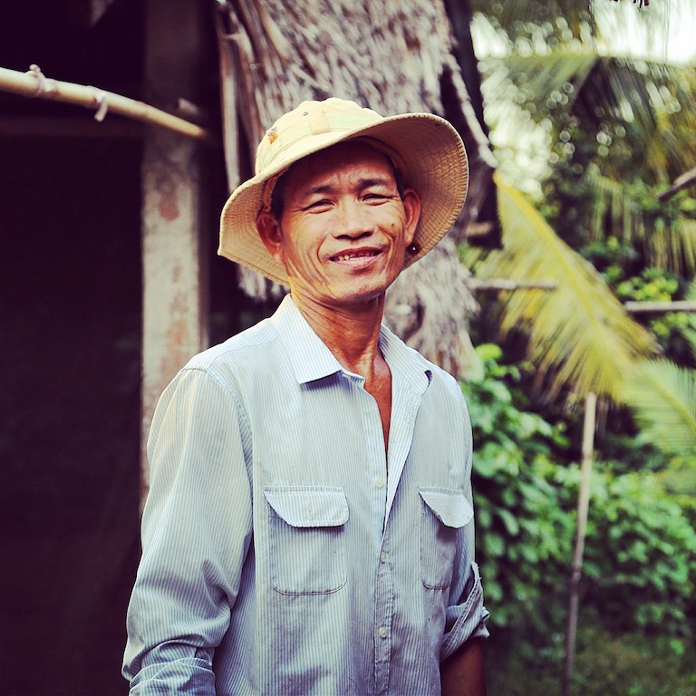 Farmer im Mekong-Delta