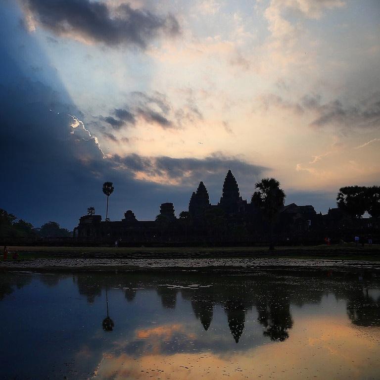 Angkor kurz vor Sonnenaufgang