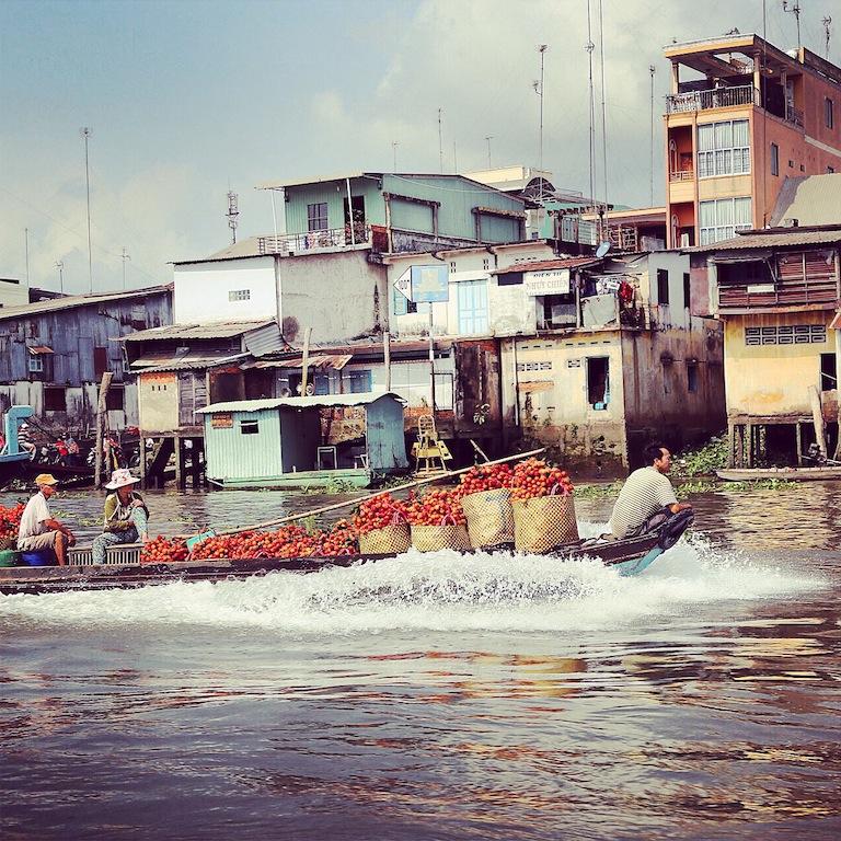 Auf dem Weg zum schwimmenden Markt