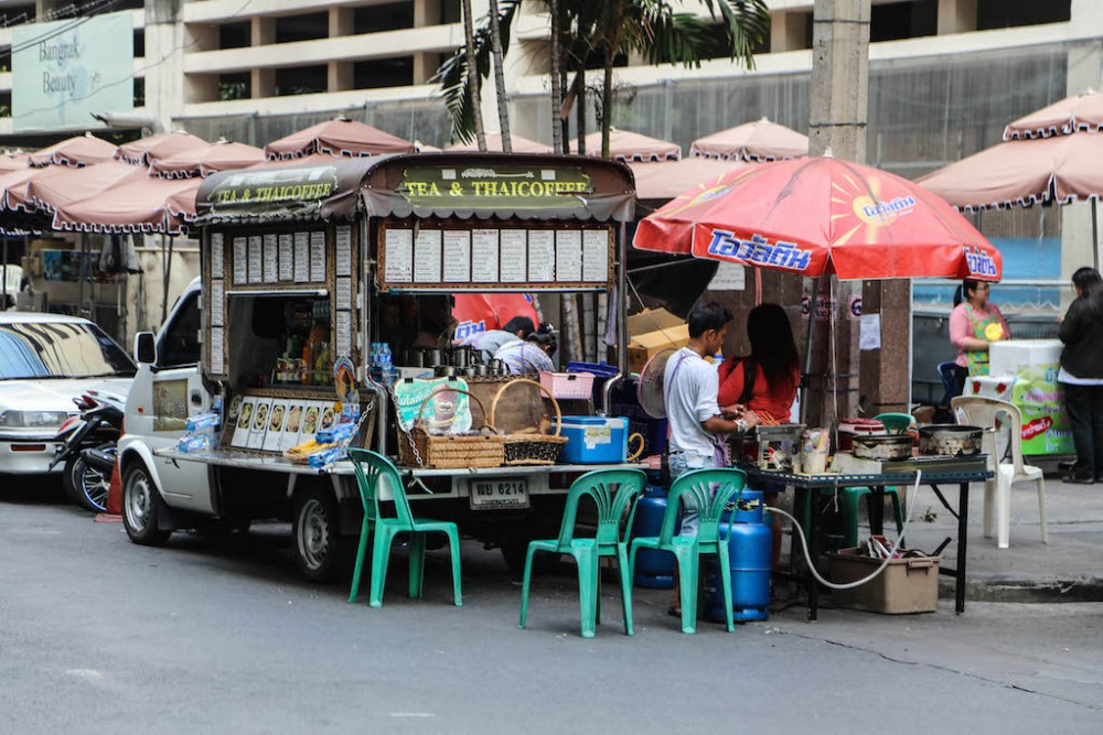 Streetfood gehört einfach zu  Bangkok