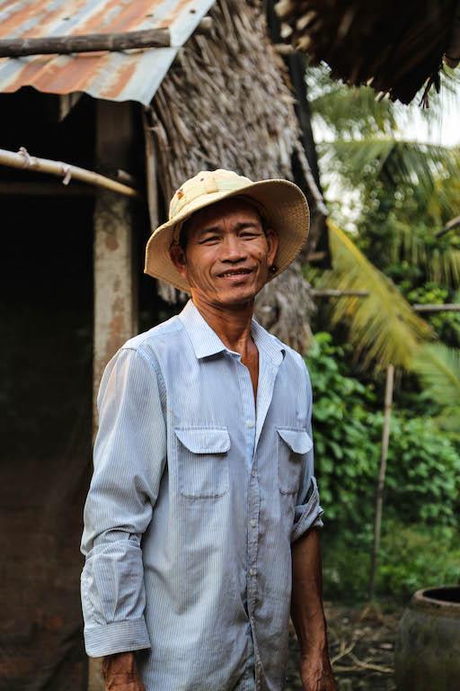 Farmer im Mekongdelta