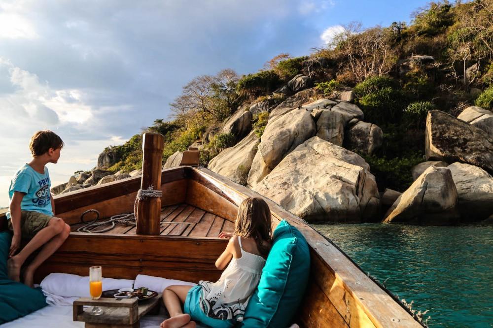 Auf Affensuche vom Boot aus