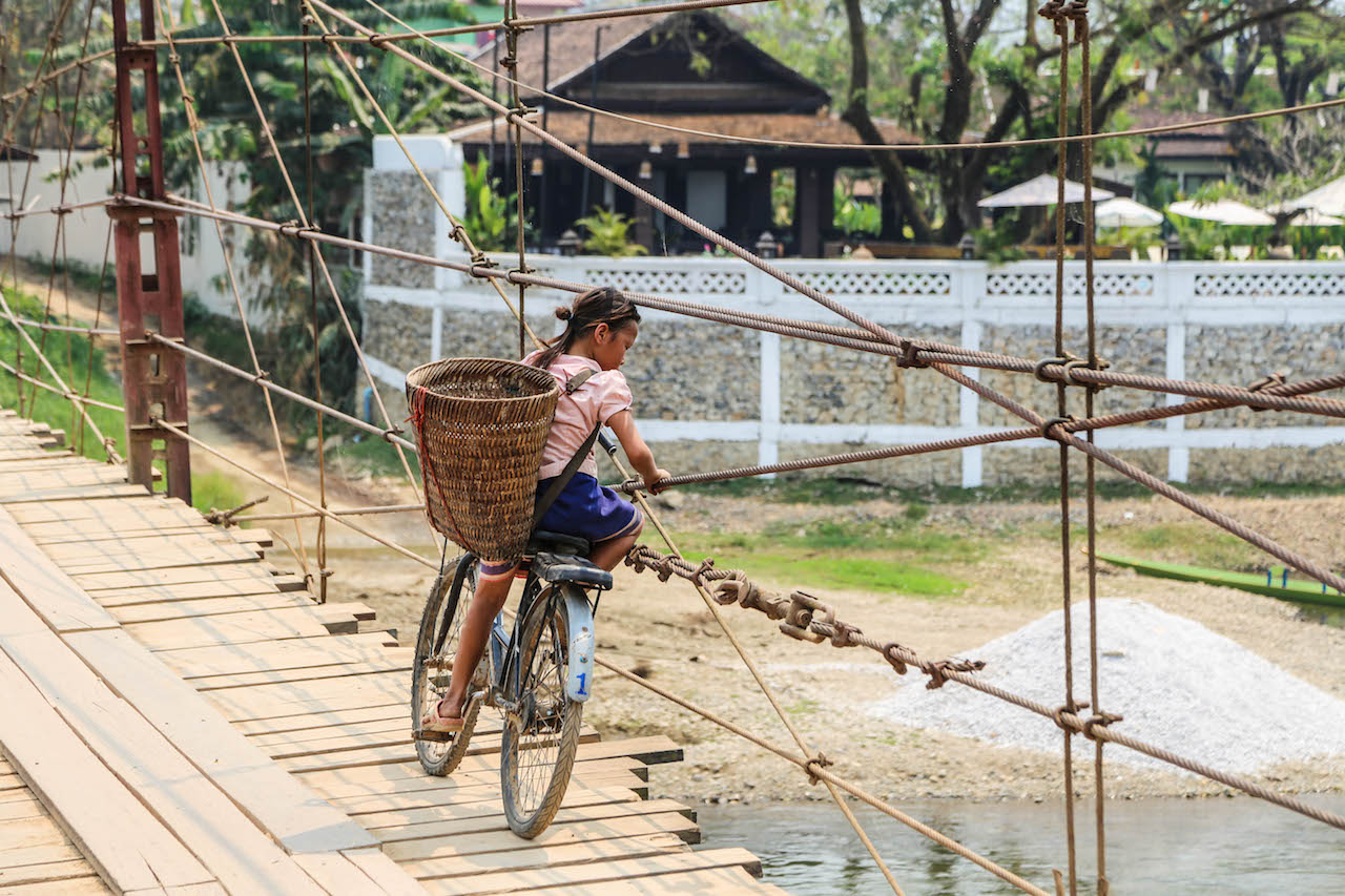 Fernreisen mit Kindern Laos
